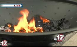 MU student burns ISIS flag on campus